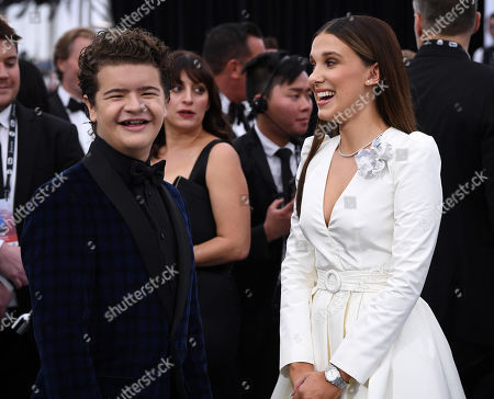 Gaten Matarazzo and Millie Bobby Brown