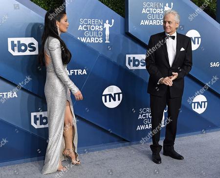 Catherine Zeta-Jones and Michael Douglas