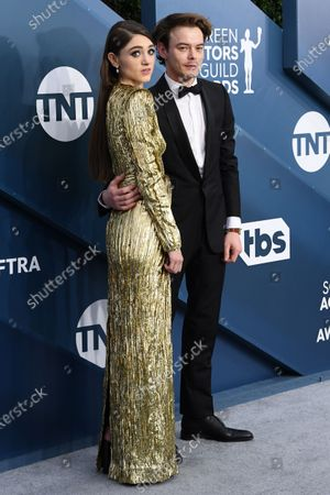 Stock Picture of Natalia Dyer and Charlie Heaton