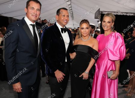 Scott Stuber, Alex Rodriguez, Jennifer Lopez and Molly Sims