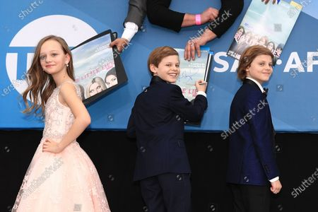 Ivy George, Cameron Crovetti and Nicholas Crovetti