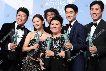 Kang-Ho Song, Bong Joon-Ho, Park So-dam, Jeong-eun Lee, Lee Sun-kyun and Choi Woo-shik - Outstanding Performance by a Cast in a Motion Picture - Parasite