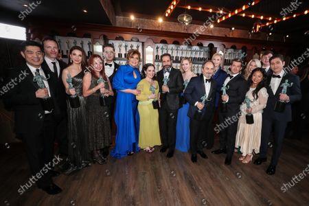 The Marvelous Mrs. Maisel cast - Rachel Brosnahan and Alex Borstein with cast