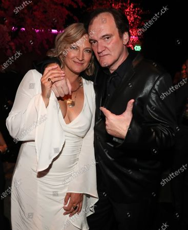 Zoe Bell and Quentin Tarantino