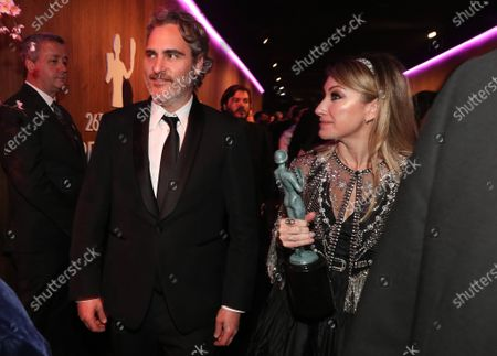 Stock Image of Joaquin Phoenix and Blair Rich