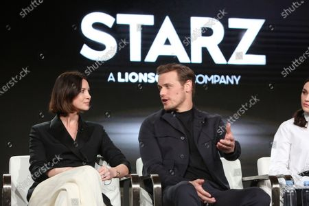 Stock Picture of Caitriona Balfe and Sam Heughan