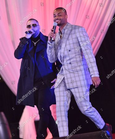 Stock Photo of Nicky Jam and King Bach at the Los Angeles Premiere of Columbia Pictures BAD BOYS FOR LIFE.