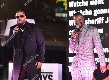 Stock Picture of Nicky Jam and King Bach at the Los Angeles Premiere of Columbia Pictures BAD BOYS FOR LIFE.