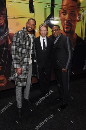Stock Photo of Will Smith, Jerry Bruckheimer, Producer, and Martin Lawrence