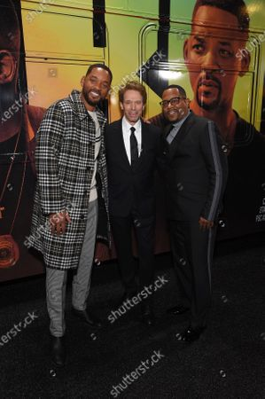 Stock Image of Will Smith, Jerry Bruckheimer, Producer, and Martin Lawrence