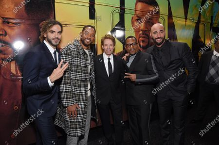 Adil El Arbi, Director, Will Smith, Jerry Bruckheimer, Producer, Martin Lawrence and Bilall Fallah, Director,