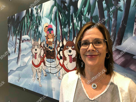 """Stock Image of Dorothea Gillim, executive producer and co-creator of """"Molly of Denali,"""" at the Anchorage Museum in Anchorage, Alaska. """"Molly of Denali"""" is the first cartoon series with an Alaska Native character as the lead. It premiered nationwide on PBS Kids in July"""