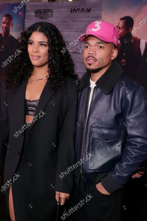 Kirsten Corley and Chance The Rapper attend the Los Angeles Premiere of Columbia Pictures BAD BOYS FOR LIFE.