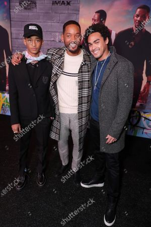 Jaden Smith, Will Smith, Actor/Producer, and Trey Smith attend the Los Angeles Premiere of Columbia Pictures BAD BOYS FOR LIFE.