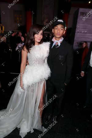 Stock Picture of Vanessa Hudgens and Jaden Smith attend the Los Angeles Premiere of Columbia Pictures BAD BOYS FOR LIFE.