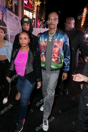 Stock Photo of Shante Taylor and Snoop Dogg attend the Los Angeles Premiere of Columbia Pictures BAD BOYS FOR LIFE.
