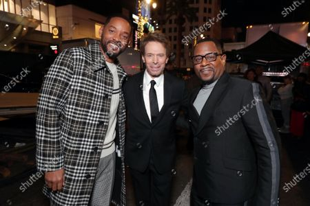 Will Smith, Actor/Producer, Jerry Bruckheimer, Producer, and Martin Lawrence attend the Los Angeles Premiere of Columbia Pictures BAD BOYS FOR LIFE.