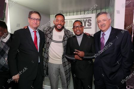 Tom Rothman, Chairman, Sony Pictures Entertainment Motion Picture Group, Will Smith, Actor/Producer, Martin Lawrence and Tony Vinciquerra, Chairman and Chief Executive Officer, Sony Pictures Entertainment, attend the Los Angeles Premiere of Columbia Pictures BAD BOYS FOR LIFE.