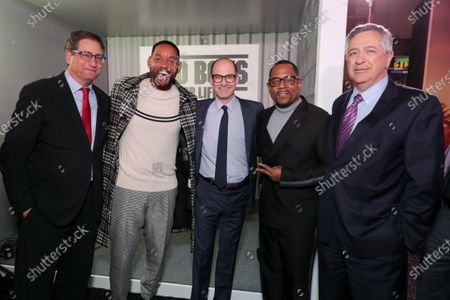 Tom Rothman, Chairman, Sony Pictures Entertainment Motion Picture Group, Will Smith, Actor/Producer, Doug Belgrad, Producer, Martin Lawrence and Tony Vinciquerra, Chairman and Chief Executive Officer, Sony Pictures Entertainment, attend the Los Angeles Premiere of Columbia Pictures BAD BOYS FOR LIFE.