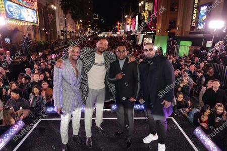 King Bach, Will Smith, Actor/Producer, Martin Lawrence and Nicky Jam attend the Los Angeles Premiere of Columbia Pictures BAD BOYS FOR LIFE.