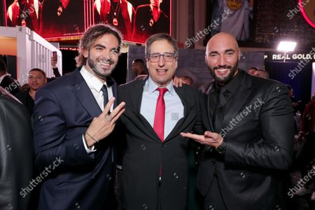 Adil El Arbi, Director, Tom Rothman, Chairman, Sony Pictures Entertainment Motion Picture Group, and Bilall Fallah, Director, attend the Los Angeles Premiere of Columbia Pictures BAD BOYS FOR LIFE.