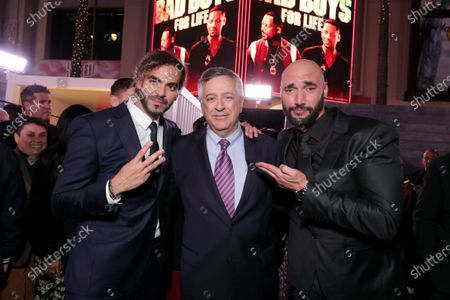 Adil El Arbi, Director, Tony Vinciquerra, Chairman and Chief Executive Officer, Sony Pictures Entertainment, and Bilall Fallah, Director, attend the Los Angeles Premiere of Columbia Pictures BAD BOYS FOR LIFE.