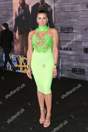 "Laura Govan attends the LA premiere of ""Bad Boys for Life"" at the TCL Chinese Theatre, in Los Angeles"