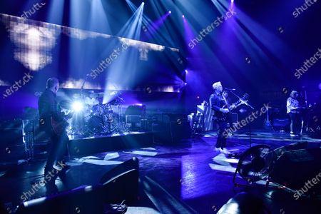New Order - Phil Cunningham, Stephen Morris, Bernard Sumner, Tom Chapman and Gillian Gilbert