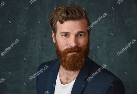 """Stock Image of Derek Theler, a cast member in the Paramount Network series """"68 Whiskey,"""" poses for a portrait during the 2020 Winter Television Critics Association Press Tour, in Pasadena, Calif"""