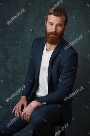 """Derek Theler, a cast member in the Paramount Network series """"68 Whiskey,"""" poses for a portrait during the 2020 Winter Television Critics Association Press Tour, in Pasadena, Calif"""