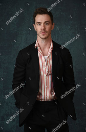"""Stock Picture of Sam Keeley, a cast member in the Paramount Network series """"68 Whiskey,"""" poses for a portrait during the 2020 Winter Television Critics Association Press Tour, in Pasadena, Calif"""