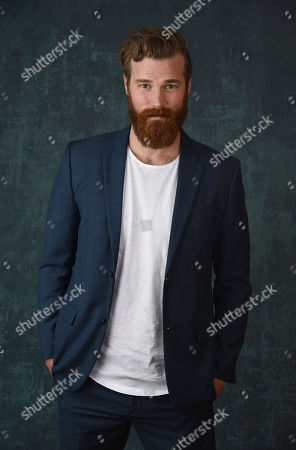 """Stock Picture of Derek Theler, a cast member in the Paramount Network series """"68 Whiskey,"""" poses for a portrait during the 2020 Winter Television Critics Association Press Tour, in Pasadena, Calif"""