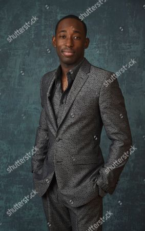 """Stock Picture of Jeremy Tardy, a cast member in the Paramount Network series """"68 Whiskey,"""" poses for a portrait during the 2020 Winter Television Critics Association Press Tour, in Pasadena, Calif"""