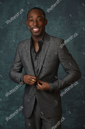 """Jeremy Tardy, a cast member in the Paramount Network series """"68 Whiskey,"""" poses for a portrait during the 2020 Winter Television Critics Association Press Tour, in Pasadena, Calif"""