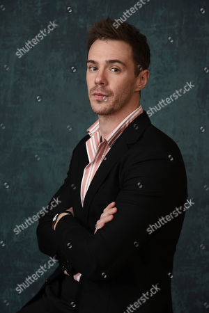 """Sam Keeley, a cast member in the Paramount Network series """"68 Whiskey,"""" poses for a portrait during the 2020 Winter Television Critics Association Press Tour, in Pasadena, Calif"""