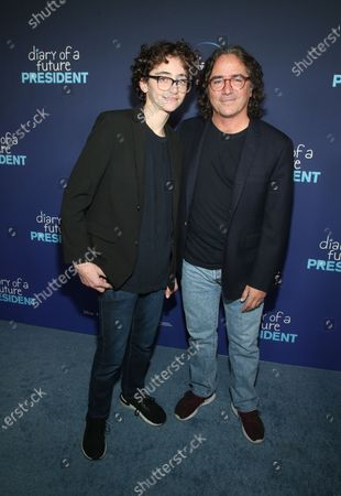 Stock Image of Brad Silberling and Bodhi Russell Silberling