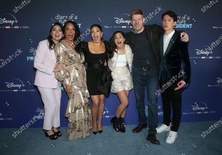 Ilana Pena, Selenis Leyva, Gina Rodriguez, Tess Romero, Michael Weaver and Charlie Bushnell