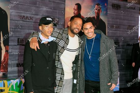 Jaden Smith, Will Smith and Trey Smith arrive for the world premiere of the movie 'Bad Boys For Life' at the TCL Chinese Theatre IMAX in Hollywood, Los Angeles, California, USA, 14 January, 2020. The movie opens in the USA on 17 January 2020.