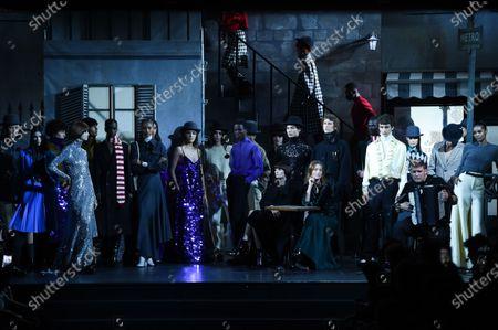 Editorial photo of AMI Alexandre Mattiussi Show, Autumn Winter 2020, Paris Fashion Week Men's, France - 14 Jan 2020
