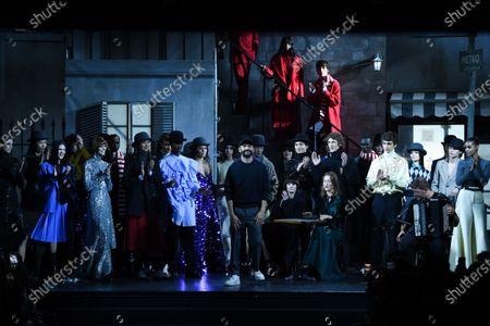 Editorial image of AMI Alexandre Mattiussi Show, Autumn Winter 2020, Paris Fashion Week Men's, France - 14 Jan 2020