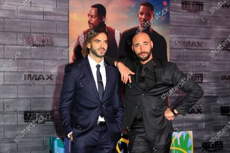 Adil El Arbi (L) and Bilall Fallah arrives for the World Premiere of Bad Boys for Life at the TCL Chinese Theatre in Hollywood, Los Angeles, California, USA, 14 January, 2020. The movie opens in US cinemas on the 17 January 2020.