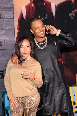 T.I. and wife Tameka Cottle (L) arrives for the World Premiere of Bad Boys For Life at the TCL Chinese Theatre IMAX in Hollywood, Los Angeles, California, USA, 14 January, 2020. The movie opens in the US 17 January, 2020.
