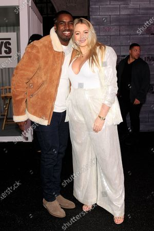 Iskra Lawrence (R) and former Rugby player Philip Payne arrives for the premiere of Bad Boys for Life at the TCL Chinese Theatre in Hollywood, Los Angeles, California, USA, 14 January, 2020. The movie opens in US cinemas on the 17 January 2020.