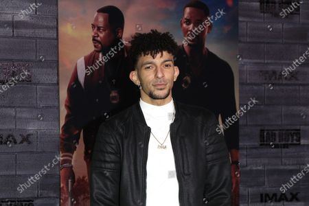 Stock Photo of Khleo Thomas arrives for the premiere of Bad Boys for Life at the TCL Chinese Theatre in Hollywood, Los Angeles, California, USA, 14 January, 2020. The movie opens in US cinemas on the 17 January 2020.