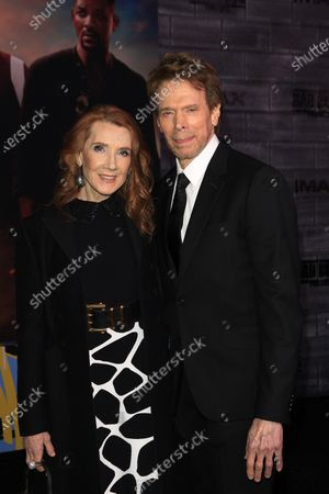 Jerry Bruckheimer arrives with his wife Linda for the World Premiere of Bad Boys For Life at the TCL Chinese Theatre IMAX in Hollywood, Los Angeles, California, USA, 14 January, 2020. The movie opens in the US 17 January, 2020.