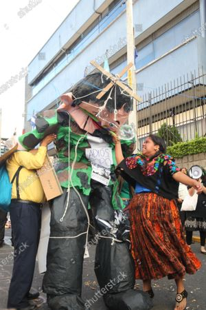 Editorial picture of Protest against outgoing Guatemalan President Jimmy Morales, Guatemala City - 14 Jan 2020