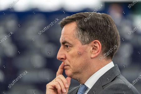 David McAllister, Member of Parliament from the EPP Group reacts before the debate on the future of Europe at the European Parliament in Strasbourg, France, 15 January 2020.