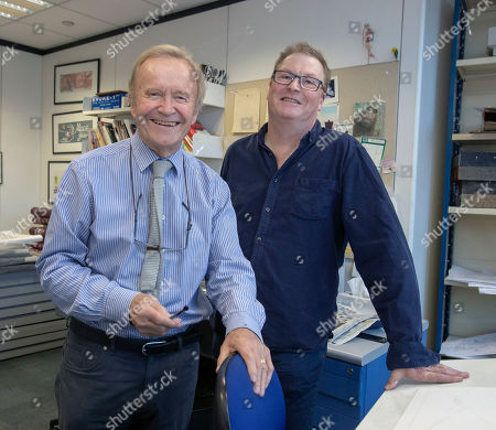 Features - Daily Mail Cartoonist Mac ( Stanley Mcmurtry) And His Successor Paul Thomas In Mac's Studio.