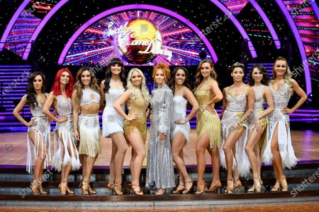 Alex Scott, Dianne Buswell, Amy Dowden, Emma Barton, Saffron Barker, Stacey Dooley, Alex Scott, Catherine Tyldesley, Karen Clifton, Katya Jones and Luba Mushtuk
