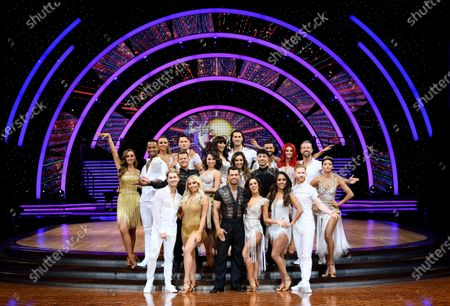 Stock Photo of Catherine Tyldesley and Johannes Radebe, Luba Mushtuk, Jake Leigh, Mike Bushell and Katya Jones, AJ Pritchard and Saffron Barker, Emma Barton and Graziano Di Prima, Robbie Kmetoni, Kelvin Fletcher and Janette Manrara, Amy Dowden and Karim Zeroual, Dianne Buswell, Joshua Keefe, Alex Scott and Neil Jones and Karen Clifton